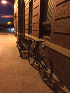 Naperville-station, as isolated as if the zombie apocalypse was upon us